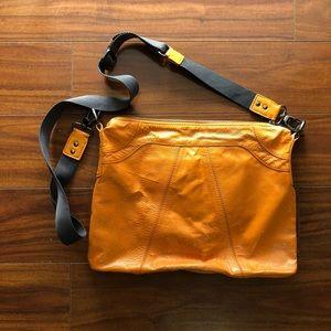 Hobo international yellow brown cross body bag